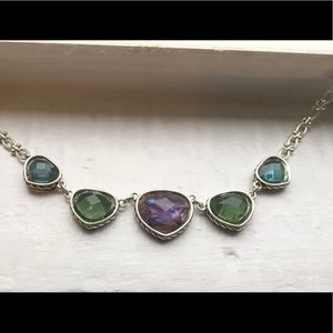 Napier Adjustable Multi-Stone Faceted Necklace